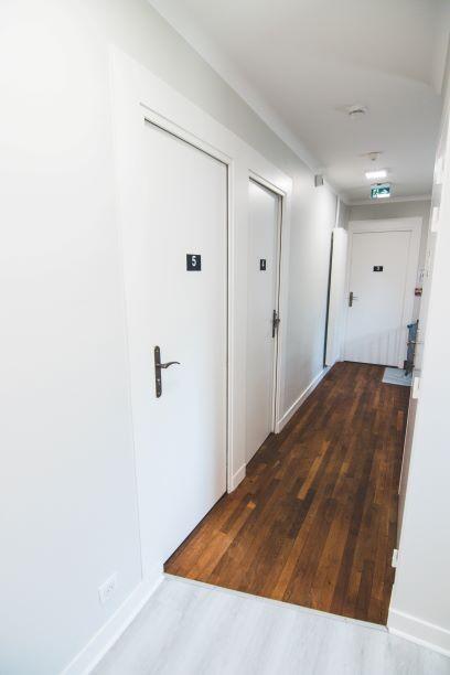 Rénovation couloir parquet d'origine